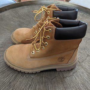 TIMBERLAND Wheat Leather Youth 6 Inch Premium Boot